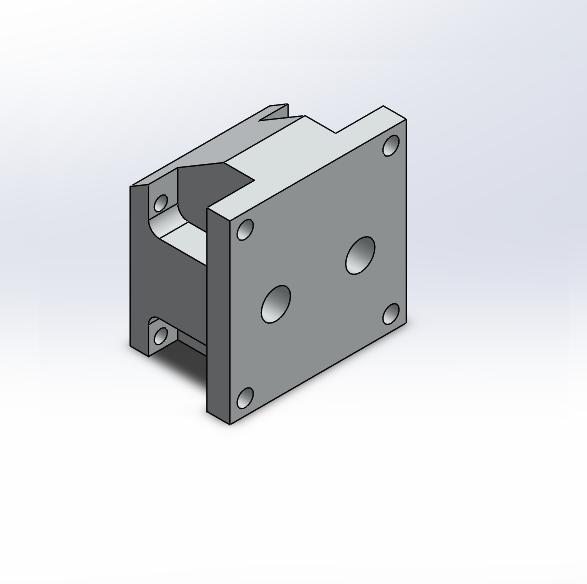 Manifold Block Adapter NG6 => NG10 Al