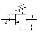 Paineenrajoitusventtiili VMDC 80l/min 120-350bar  Fe