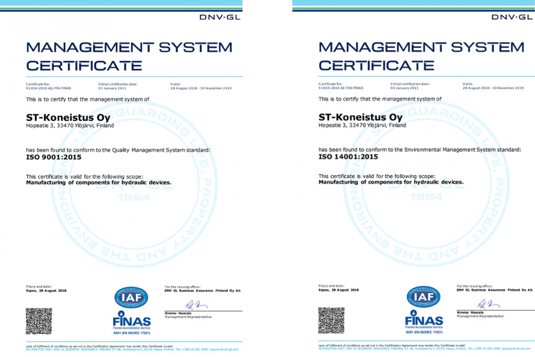 We've Upgraded Our Quality and Environmental Standards to the 2015 Versions